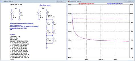 ltspice inductor simulation messwerte der frequenzabh 228 ngigen impedanz einer spule in ltspice zu simulationhinterlegen