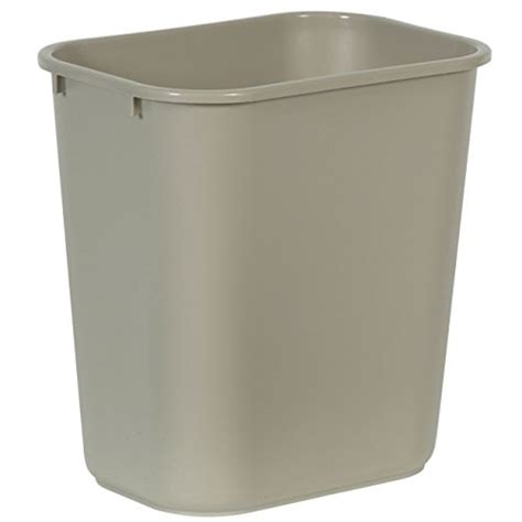 Industrial Kitchen Garbage Cans Rubbermaid Commercial Plastic 7 Gallon Trash Can Beige
