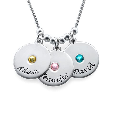 s disc and birthstone necklace mynamenecklace