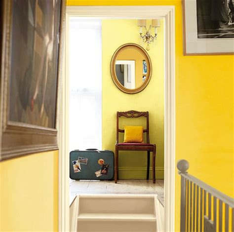 Cuisine Quelle Couleur Peinture une entr 233 e en jaune pour une atmosph 232 re chaleureuse