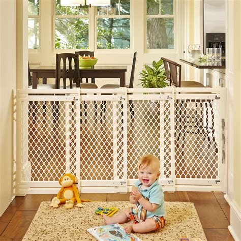 wide gates wide gate in ivory baby gates statesnorth states forbaby