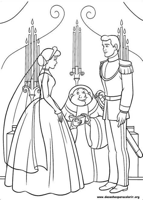cinderella bride coloring pages pr 237 ncipe e cinderela no altar desenhos para colorir