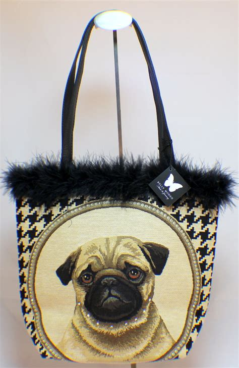pug handbags belly moden german designer tapestry handbag purse jacob pug puppy bag dragonfly