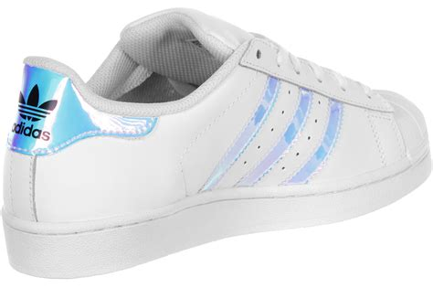 adidas superstar   shoes white silver weare shop