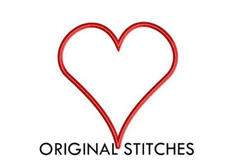 heart pattern for applique free heart applique by original stitch craftsy