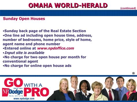 omaha world herald go section np dodge real estate orientation