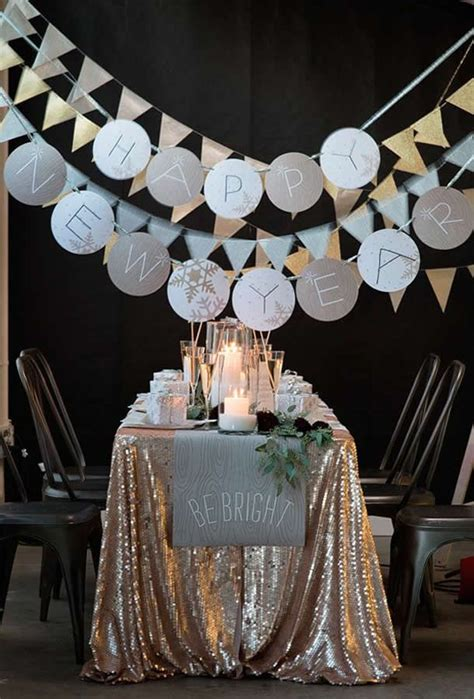 new year home decoration ideas 34 cheerful new year party d 233 cor ideas digsdigs
