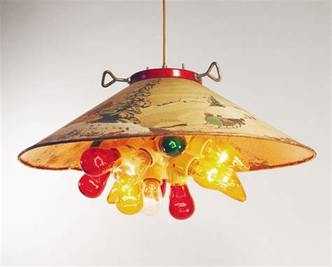 christmas light fixture put a bulb in it 24 upcycled pendant lights made from thrifty vintage treasures retro renovation