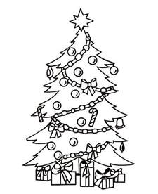 Christmas Tree With Gifts Coloring Page » Ideas Home Design
