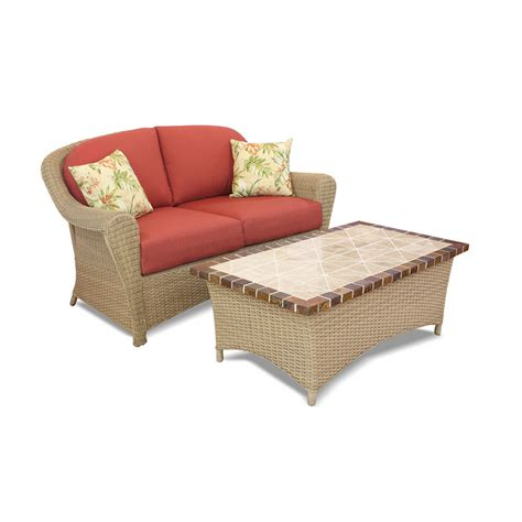 superior Patio Furniture At Home Depot #2: Beautiful-Lowes-Patio-Furniture-with-the-Red-Mattress.jpg
