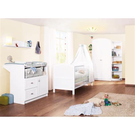 chambre bebe9 chambre b 233 b 233 3 pi 232 ces blanc pinolino acheter sur
