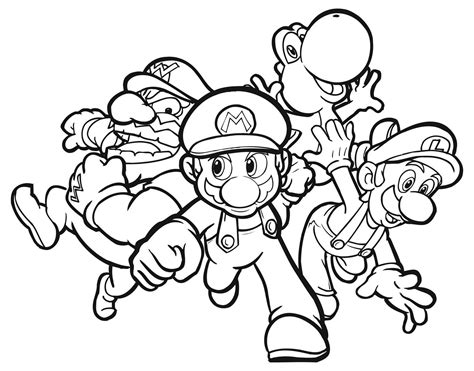 colouring in pages to print mario coloring pages free large images