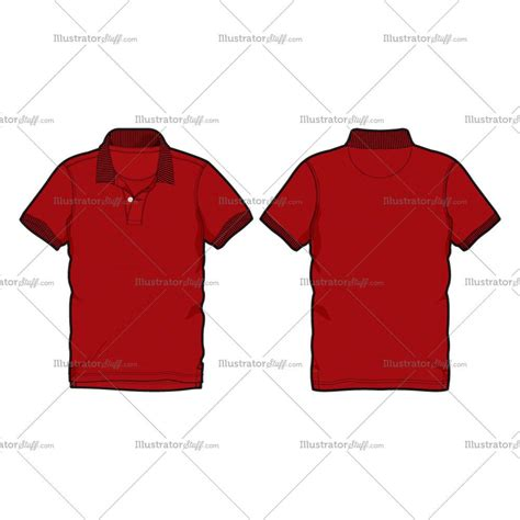 illustrator clothing templates s polo shirt vector fashion flat template