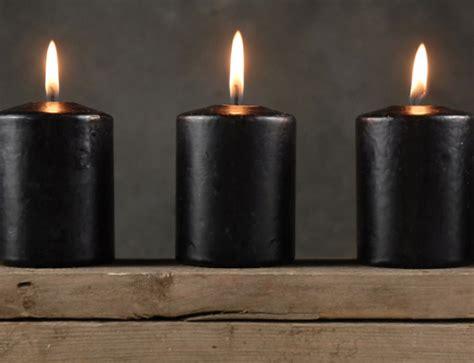 4 Large Black Votive Candles