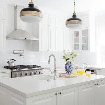 white kitchen pendant lights white center island with black industrial pendant lights