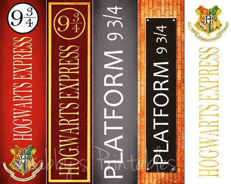 printable bookmarks etsy printable bookmarks harry potter platform 9 3 4