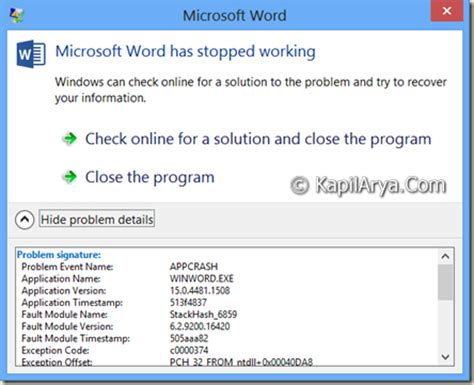 microsoft setup bootstrapper has stopped working visio 2013 fix microsoft word 2013 has stopped working