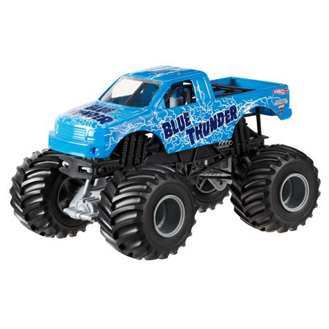 blue thunder truck wheels jam blue thunder toys