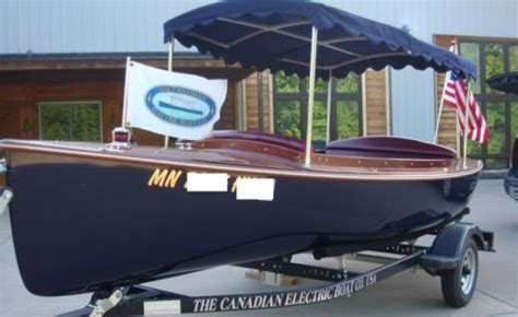 electric boats for sale ebay classic electric launch 15 6 quot canadian electric boat