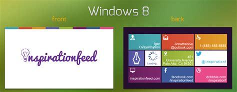 The Best Windows Inspiration Rawz Windows 8 Business Card