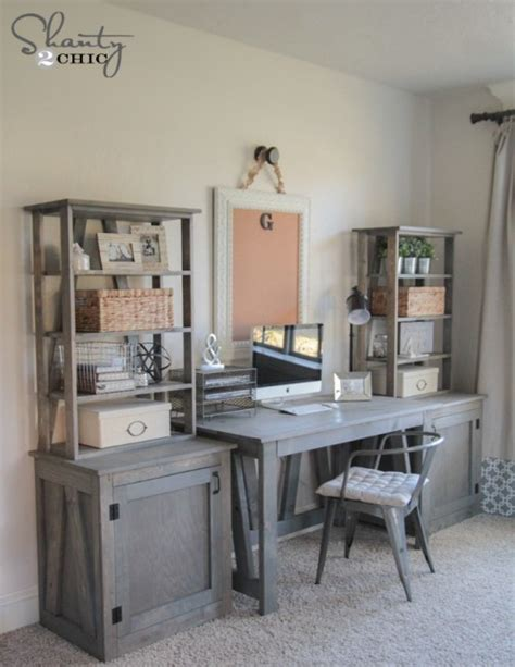 diy wood desk plans diy bookcase shanty 2 chic