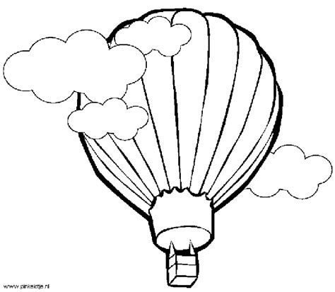 Detailed hot air balloon coloring page clipart panda free clipart images