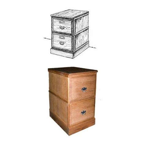 wood filing cabinet plans woodworking project paper plan to build stackable filing