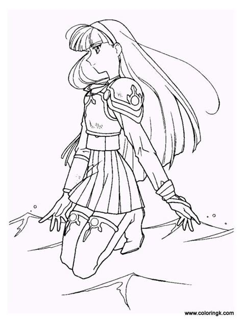 anime magical girl coloring pages 17 best images about magic knight rayearth on pinterest