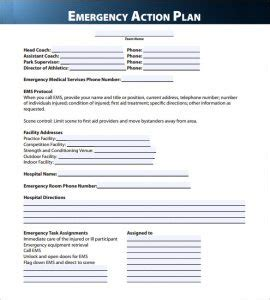 emergency response card template emergency plan template template business