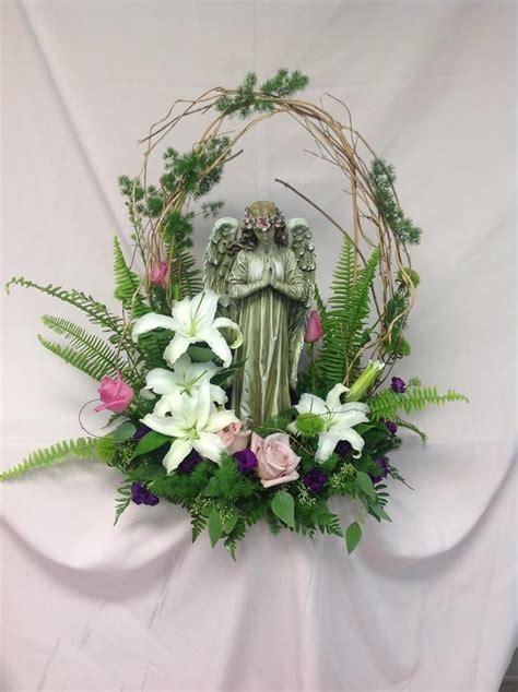 angel   garden funeral flower arrangements funeral
