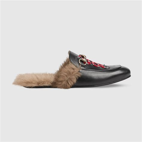 gucci slippers mens princetown leather slipper with snake gucci s