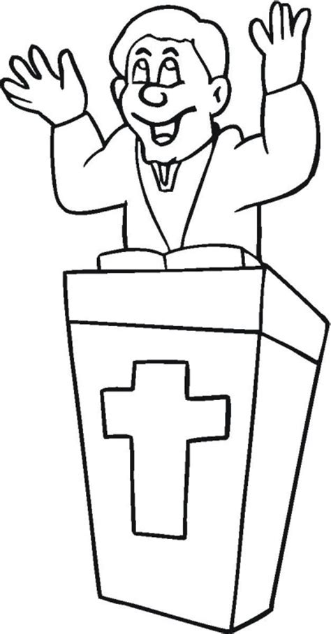 Pastor Coloring Page pastor appreciation colouring pages
