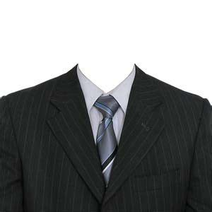 suit template with half length passport create passport size photo with coat and tie psd free