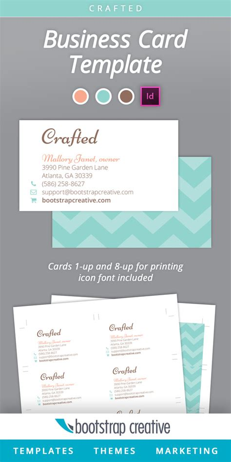 Business Card Templates Indesign business card template indesign 8 up business card