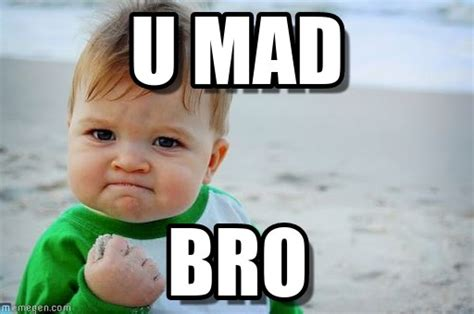 Mad Kid Meme - u mad success kid original meme on memegen