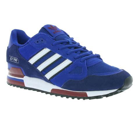 Hombres De Las Adidas Originals Zx 750 Zapatos Blanco Gris Azul V20898 Zapatos P 869 adidas originals zx 750 zapatos zapatillas deportivas