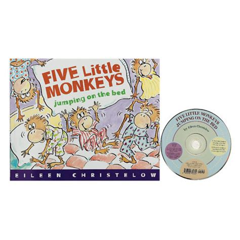 five little monkeys jumping on the bed book five little monkeys jumping on the bed book and cd