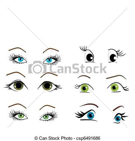 clipart occhi clip vecteur de collection yeux vecteur