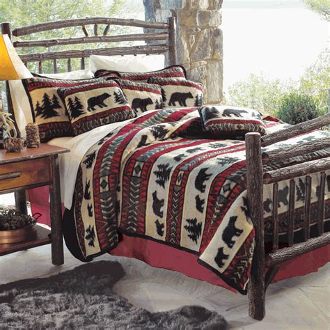 fleece comforter queen rustic bedding queen size bear adventure fleece bed set