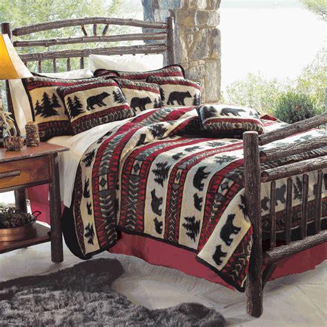 Rustic Bedding: King Size Bear Adventure Fleece Bed Set