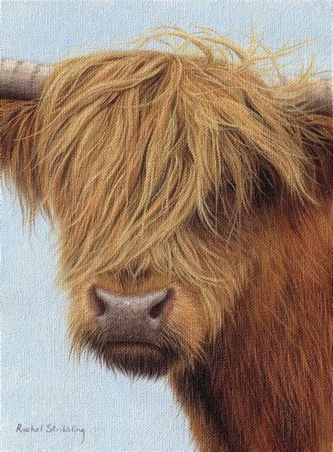 Cow Duvet Cover Highland Cow Painting Painting By Rachel Stribbling