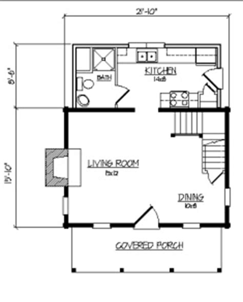 640 Square Feet Floor Plan by Cozy Cabin Floor Plans You Can Use To Make Your Getaway