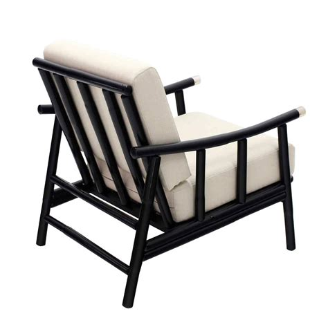 faux bamboo lounge chair and ottoman at 1stdibs pair of faux bamboo lounge chairs new upholstery for sale