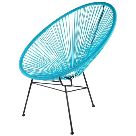 acapulco chaise fauteuil acapulco turquoise la chaise longue