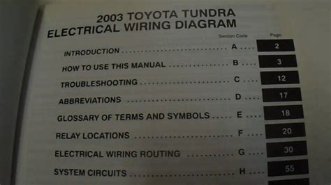toyota tundra electrical wiring diagrams manual