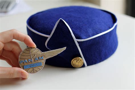 How To Make An Air Hostess Hat Out Of Paper - free printable pan am stewardess cap pattern tip junkie