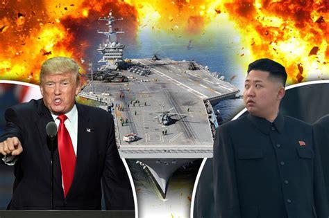 trump china north korea trump issues north korea war threat as all options are on