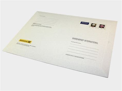 Brief Schweiz Zollinhaltserklärung Warenversand International Per Warenbrief Deutsche Post Brief International