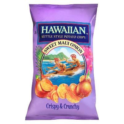 hawaiian sweet maui onion kettle style potato chips oz target