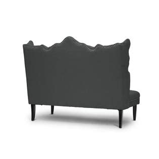 baxton studio banquette bench baxton studio witherby gray linen modern banquette bench